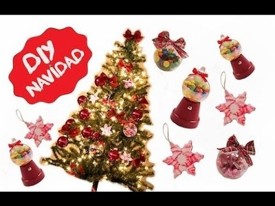 3 ideas para decorar en navidad  | Árbol navidad, Esferas navideñas
