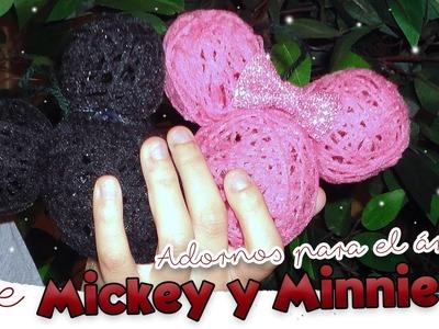 Bolas de Mickey y Minnie para el árbol de Navidad   MANUALIDAD NAVIDEÑA