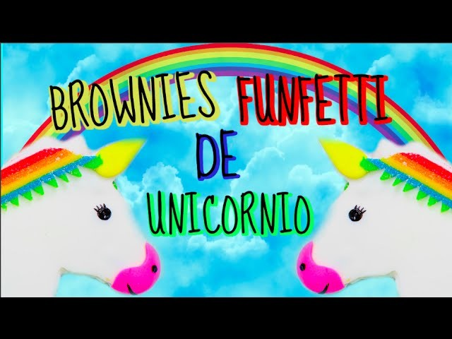 BROWNIE DE CHOCOLATE BLANCO DE UNICORNIO