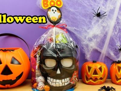 Calabaza con Sorpresas y Golosinas de Halloween en español   Halloween para niños