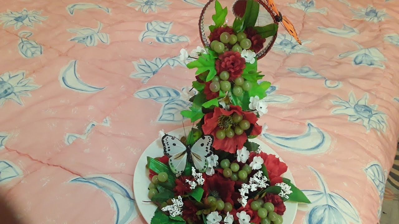 Cascada de flores para centro de mesa