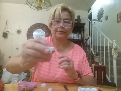 Collar,aretes y anillo en filigrana de plastico