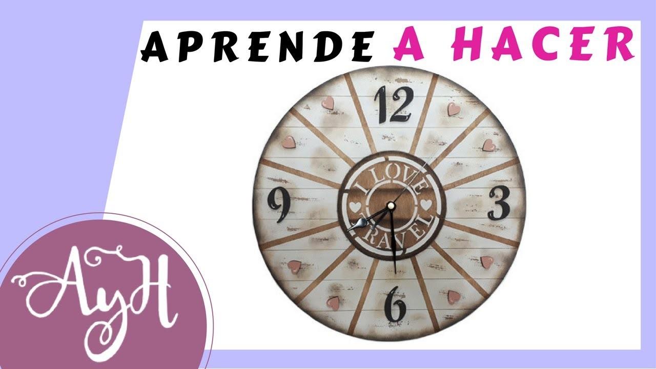 Cómo decorar y pintar un reloj de pared para casa. ????♥????