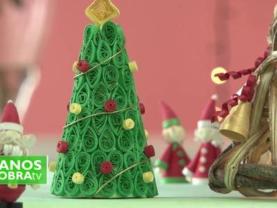 Como hacer campanitas navideñas - Quilling - Stella Saenz