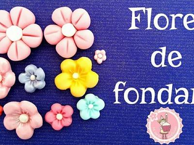 Cómo hacer flores de fondant fáciles| Mi tarta preferida
