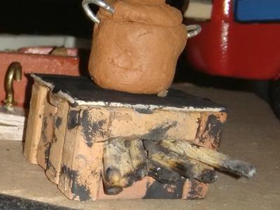 Como hacer fogones para pesebre