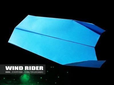 Como hacer un Avion de Papel que Vuela Boomerang   Rider