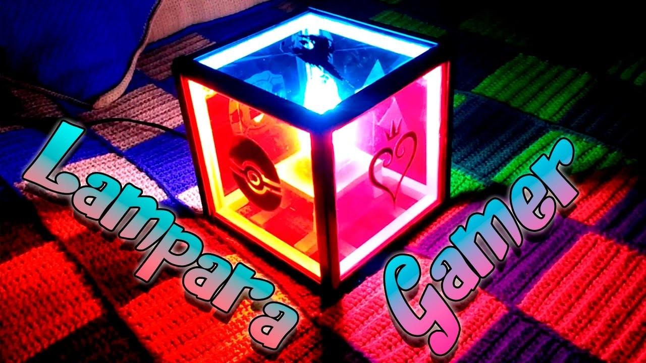 Como hacer una lampara gamer || Artesania manual