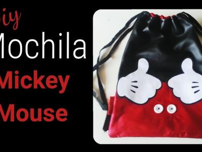 Como hacer una mochila Mickey Mouse
