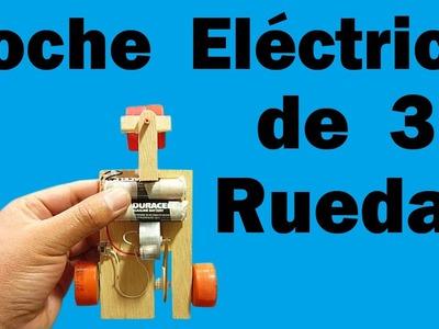 Cómo Hacer Vehículo Eléctrico De Tres Ruedas (muy fácil de hacer)