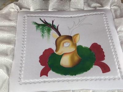 Como pintar un reno en un cojín de tiara bondeada por Hugo Espinosa