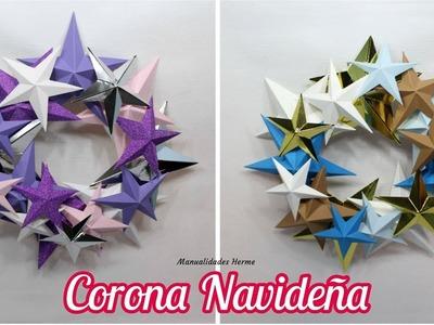 Corona de estrellas Navideña