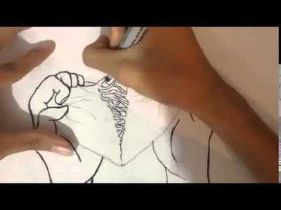Dibuando corazón roto
