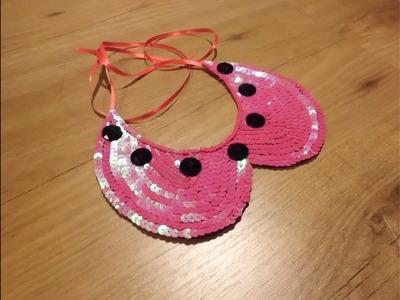 DIY collar peter pan de lentejuelas DIY bib necklace peter pan
