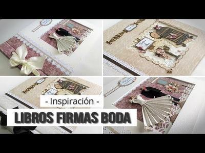 DOS IDEAS DE LIBROS DE FIRMAS PARA BODA  - INSPIRACION | LLUNA NOVA SCRAP