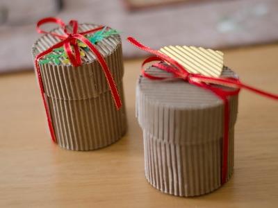 Especial de Navidad: Cómo hacer una caja redonda super fácil con cartón corrugado