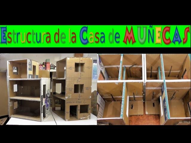 Estructura de la casa de muñecas DIY - manualidad facil de hacer