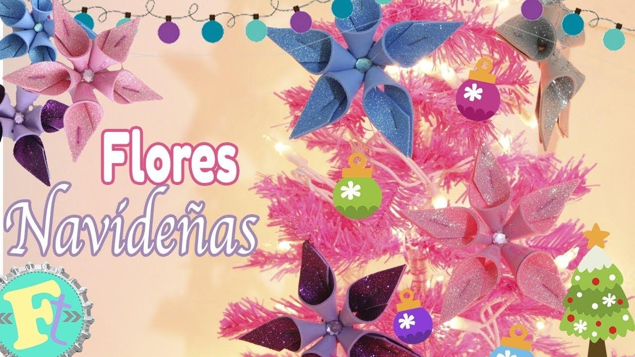 ???? Flores Navideñas Para tu Arbolito ???? SUPER FACILES