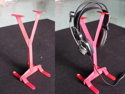 Hacer un soporte para auriculares | palitos de helado