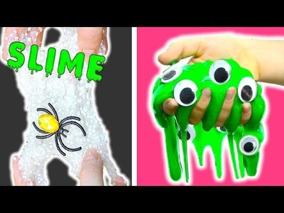 HAZ SLIME con 1 Ingrediente HALLOWEEN - Como hacer slime facil sin borax | Pasteles y Pinceles
