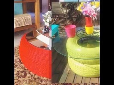 IDEAS Como hacer mesas de centro reciclando llantas