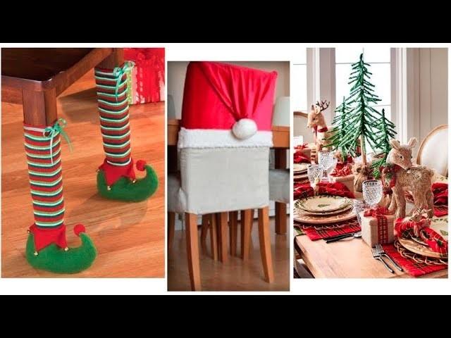 Ideas de Decoración de Navidad para Comedor- Sillas y Cocina.