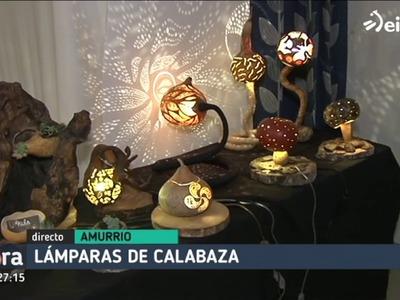Las lámparas-calabaza, artesanía que ilumina