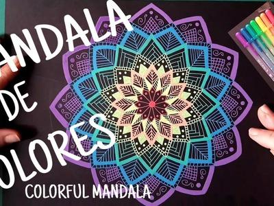 MANDALA DE COLORES -  MANDALA  RAINBOW  GELLY ROLL SAKURA MOONLIGHT