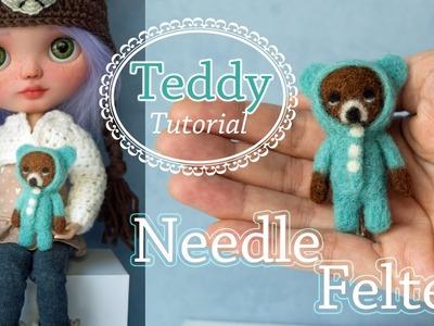 Needle Felting Teddy -Tutorial- Osito Lana afieltrada