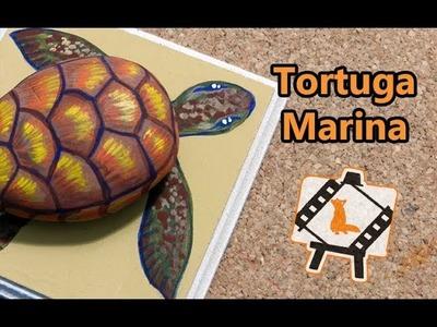 "Pintura en piedras ""Tortuga Marina"""