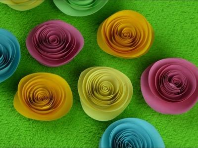 Porta retrato con flores de papel