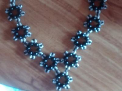 Precioso collar de perlas de cristal