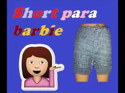 Short para barbie ¡fácil y rápido!