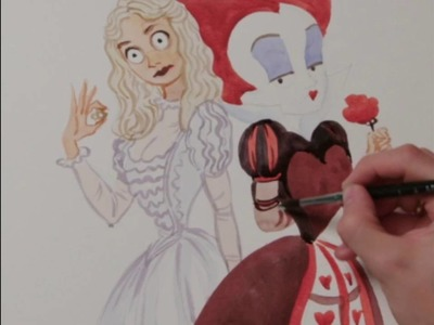 Alicia a través del espejo | Dibujo Reina Blanca y Reina Roja | HD