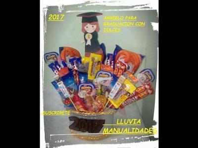 Arreglo para graduacion con dulces facil y econmico
