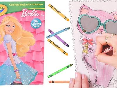 Barbie Libro Para Colorear ✎ Coloreo Rapido en DCTC ✎ Crayones Muchos Colores y Diversion