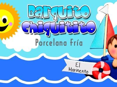 Barquito Chiquitito en Porcelana Fría. Patty Creativa.