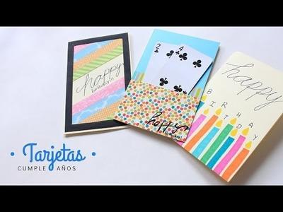 Cartas. Tarjetas de Cumpleaños | Fáciles y Bonitas