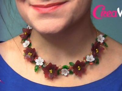 Collar de flores de plástico mágico DIY con CreaVea.es