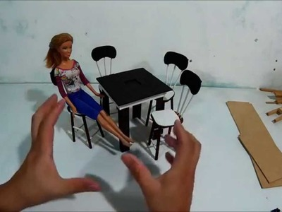 Comedor para muñecas, como lo hice (sillas).
