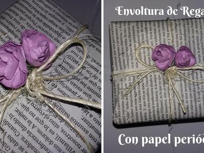 Cómo envolver un regalo con papel periódico