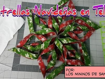 Como hacer Estrellas Navideñas de Tela DIY ( adornos de navidad Patchwork)