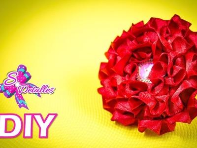 Como hacer flores: Flores de Cintas Rizadas Satinadas | Video# 25 | SDetalles | DIY