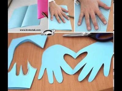 Como hacer manos con corazon