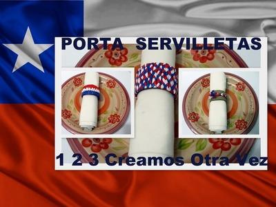 COMO HACER PORTA SERVILLETA 3 modelos de servilleteros Manualidades para Fiestas Patrias Chilenas