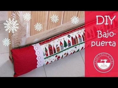 Cómo hacer un bajopuerta, ideas para Navidad