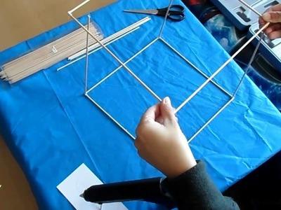 Cómo hacer una estructura de casa con palos.