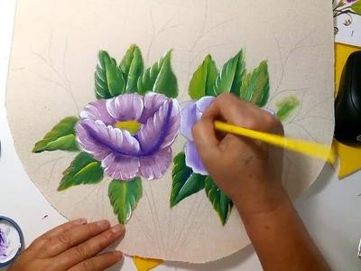 Como.pintar amapolas en tela Sonia R.A.