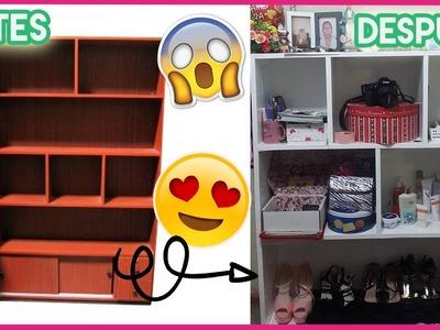 CÓMO RESTAURAR UN MUEBLE! DIY Transforma tus muebles viejos a nuevos!! | Angie