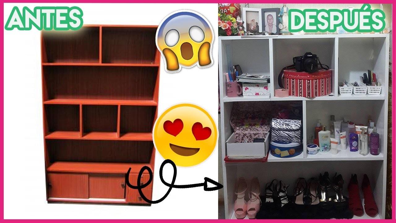 CÓMO RESTAURAR UN MUEBLE! DIY Transforma tus muebles viejos a nuevos!!   Angie